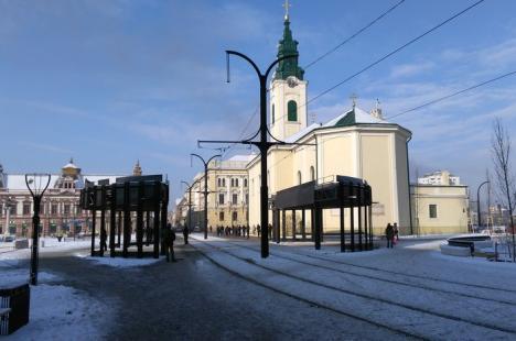 Frigul a blocat circulaţia tramvaielor în oraş
