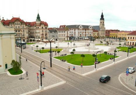 Fără maşini în weekend! Traficul rutier prin Piaţa Unirii din Oradea, restricţionat începând de sâmbătă