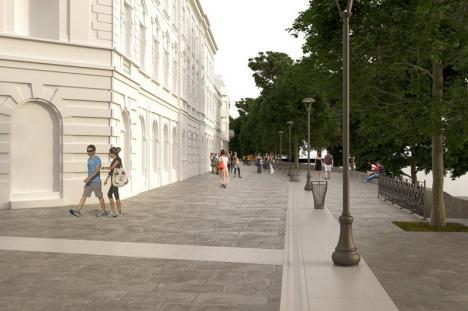 Vezi cum va arăta! Primăria Oradea a făcut publice noi imagini cu pietonala din strada Libertăţii (FOTO)