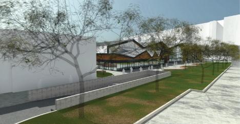 Hala distrusă în incendiul din Piaţa Cetate va fi reconstruită. Vezi cum va arăta! (FOTO)