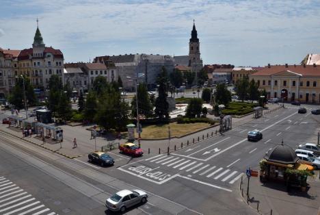 """Una, da' """"scumpă""""! Drumuri Bihor a depus singura ofertă pentru reabilitarea Pieţei Unirii, la un preţ mai mare cu 8% decât cel estimat"""