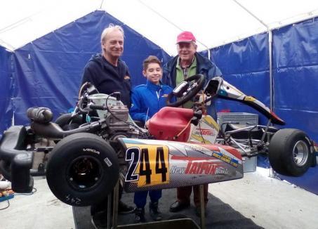 La doar 11 ani, pilotul orădean Antonio Cohuţ s-a remarcat la testele internaţionale pentru Scuderia Mach Racing Team din Austria
