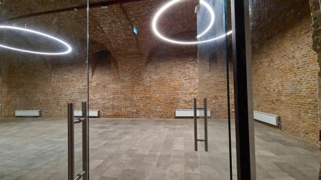 Lucrările de la Palatul Baroc, spre final: Pivnița devine centru cultural și de afaceri, etajul 2 va găzdui o expoziție de artă modernă (FOTO)
