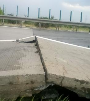 Autostrăzi în România: Plăcile de beton s-au ridicat cu aproape jumătate de metru pe Autostrada Soarelui (VIDEO)