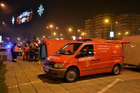 Plan roşu! Incendiu de proporţii şi accident cu substanţe radioactive în centrul Oradiei, într-un exerciţiu de intervenţie (FOTO/VIDEO)