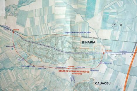Centură pentru Biharia: Primăria Oradea va cofinanţa lucrările la o şosea ocolitoare pentru satul vecin (FOTO)