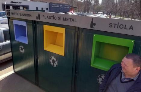 Colectaţi selectiv! Primăria Oradea a montat 11 platforme modulare, unde oamenii să arunce deşeurile reciclabile
