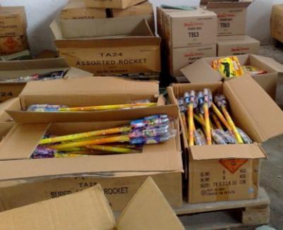 Artificiile se vând numai în locuri special amenajate