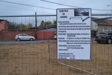 Începe demolarea pasarelei de la Centrul de Calcul! (FOTO)