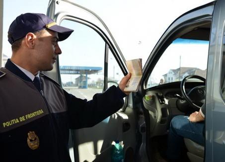 O autoutilitară Mercedes, căutată de autorităţile italiene, a fost descoperită în Borș, cu acte false, la un ucrainean