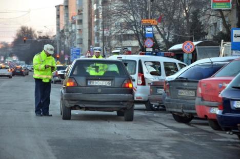 Valentine's Day cu razii în Bihor: Peste 700 de poliţiştii din judeţ au descins în pieţe şi pe şosele