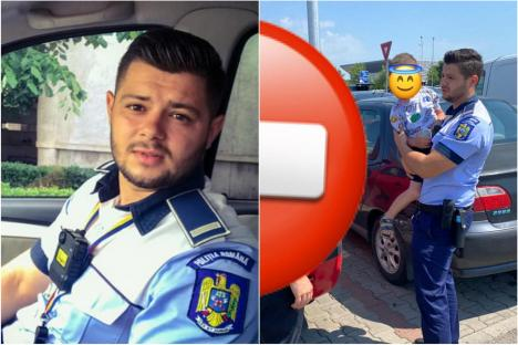 Încă un copilaş închis în maşină pe caniculă, în Oradea. A fost salvat de un poliţist