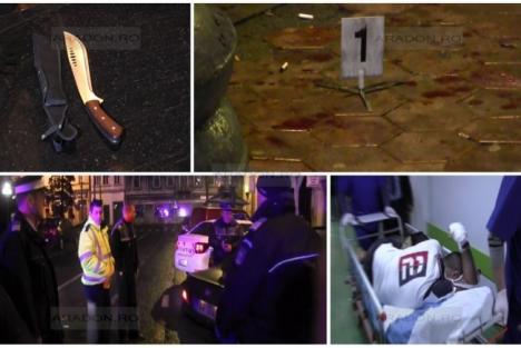Poliţist tăiat cu o macetă în faţa unui club arădean, chiar de către cei pe care îi anchetează!