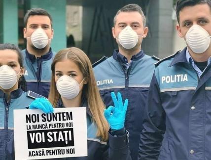 Sunteţi acasă? În Bihor, poliţiştii au ieşit în 2.500 de misiuni de verificare a persoanelor aflate în izolare la domiciliu