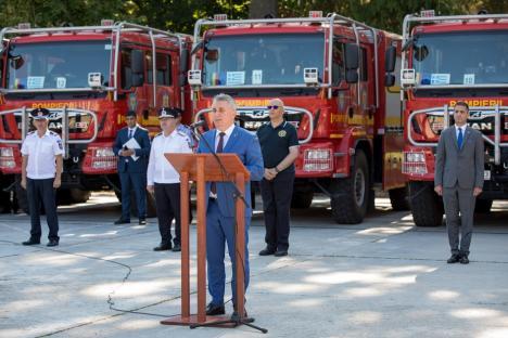 Incendiile din Grecia: Pompierii bihoreni au revenit acasă, unul dintre ei a primit Emblema de Onoare a MAI (FOTO / VIDEO)