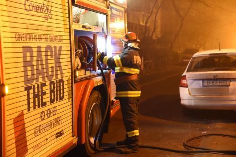 Neglijență: Un tomberon din Rogerius a ars din cauza unei țigări nestinse (FOTO)