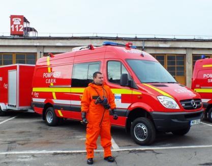 Pompierii bihoreni şi-au înjumătăţit timpii de intervenţie, pe bani europeni (FOTO)