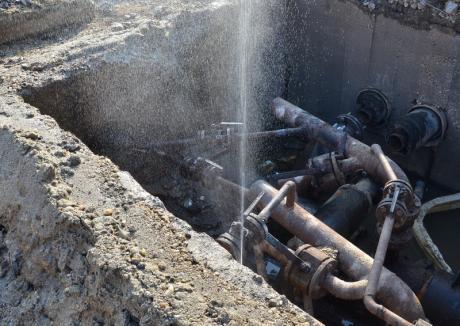 CAO: Avarie majoră la o magistrală de apă în Oradea
