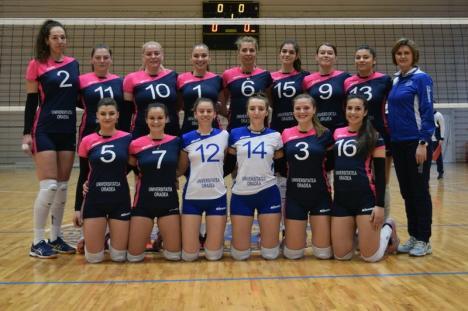Volei feminin: CSU Oradea se va lupta pentru primele douălocuri la turneul semifinal de la Craiova