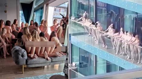 Mai multe fotomodele au pozat dezbrăcate pe un balcon din Dubai şi au ajuns după gratii (FOTO)