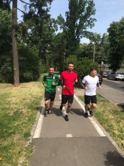 Fotbaliştii de la CAO Oradea au revenit la antrenamente, cu gândul la barajul de promovare (FOTO)