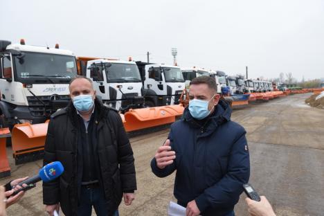 'Mai pregătiţi decât am fost vreodată': RER Vest a trecut cu brio inspecţia de iarnă a Primăriei Oradea (FOTO / VIDEO)