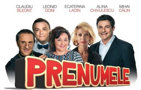 Claudiu Bleonţ, Adina Chivulescu şi Mihai Călin aduc la Oradea comedia 'Prenumele'