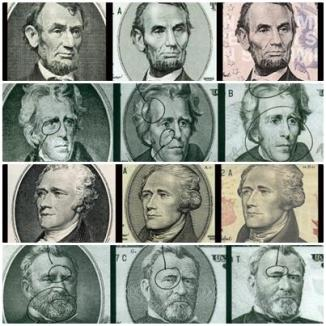 Preşedinţii americani întineresc pe bancnote