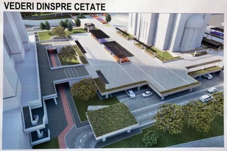 Constructorii au început săpăturile la prima parcare de tip park and ride din Oradea (FOTO / VIDEO)