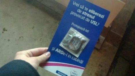Au inventat prezervativul electoral: Protejează-te şi ARDe-i în cabină!