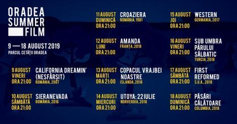 Oradea Summer Film: cinematograful orădean în aer liber începe în acest weekend!