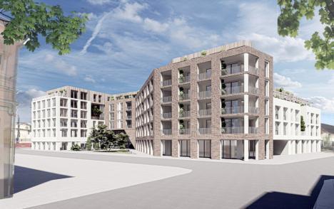 Bloc cu cinci etaje pe amplasamentul fostei mori Emilia din centrul Oradiei