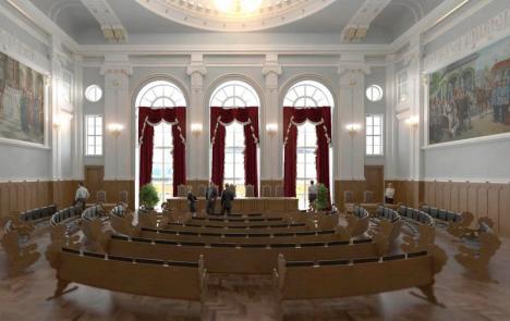 Primăria licitează lucrările de reabilitare a palatului administrativ al Oradiei