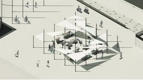 Cum vă place? Primarul Florin Birta îi îndeamnă pe orădeni să aleagă cum va arăta piaţeta de deasupra parcării din Independenţei (FOTO / VIDEO)