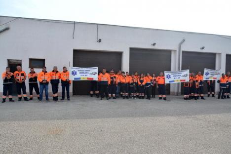 Protest la Serviciul Județean de Ambulanță Bihor (FOTO)