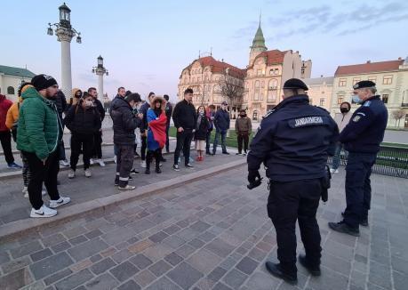 Jandarmeria Bihor: Toţi participanţii de la marşul de duminică seară vor fi amendaţi!