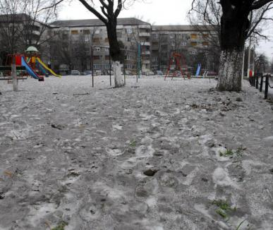 Zăpadă neagră: Zona Rogerius a fost acoperită cu cenuşă, iar orădenilor li se cere să stea în casă (FOTO)