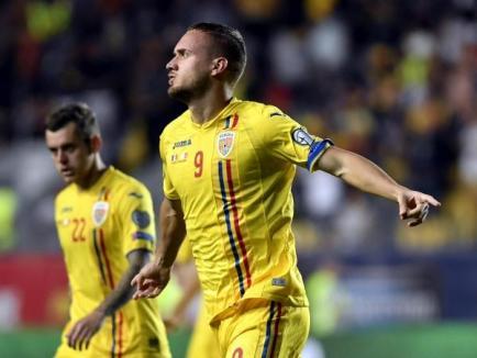 Bihoreanul George Puşcaş, înjurat de antrenorul Cosmin Contra după ce a ratat un penaltyîn meciul cu Norvegia