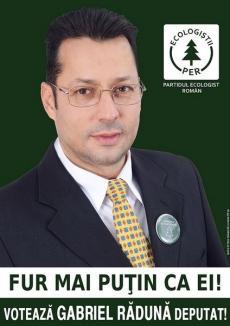 """Slogan de candidat """"verde"""": Fur mai puţin ca ei!"""