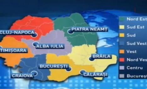 Proiectul regionalizării: Oradea nu va fi centru de regiune!
