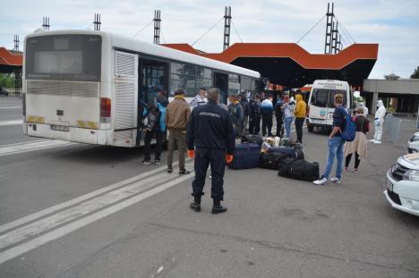 Duba spre casă: Cine sunt românii care se întorc în țară prin Vama Borș? De ce vin? Cum sunt duși spre casele lor? (FOTO / VIDEO)