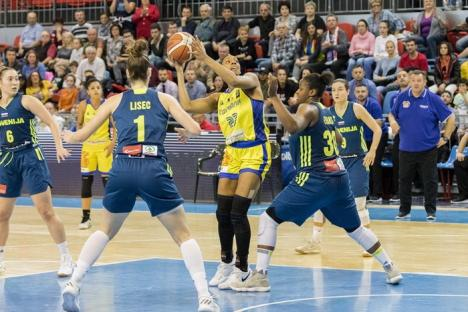 Baschetbalistele tricolore au pierdut cu 'succes' meciul cu Slovenia, de la Oradea (FOTO)