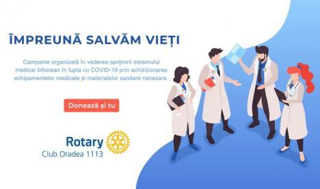CluburileRotary 1113 și Rotaract cerajutorul bihorenilor: se strâng fonduri pentru dotarea spitalelor din judeţ