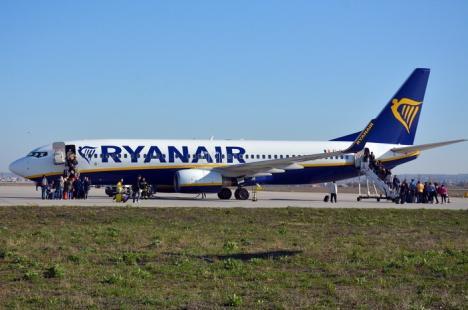 Promoţie la zboruri: Ryanair anunţă bilete 'de la doar 2,99 euro' în luna septembrie, la zborurile de pe Aeroportul Oradea