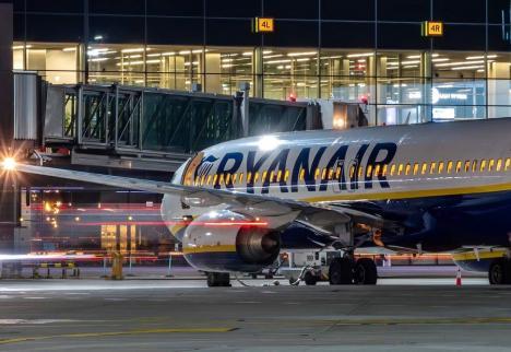 Zborurile Ryanair programate în iarnă la Oradea, anulate în contextul pandemiei! Ar urma să fie operate de la finalul lui februarie