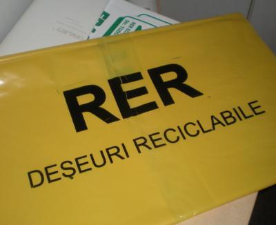 RER ridică primele reciclabile de la case