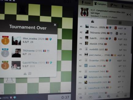 Au fost desemnaţi câştigătorii Campionatului Judeţean de şah fulger online