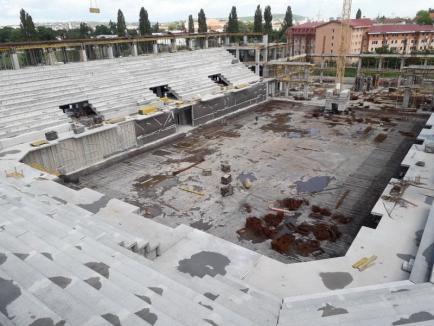 Şantier la 45%: Cum arată noua Sală Polivalentă din Oradea (FOTO)