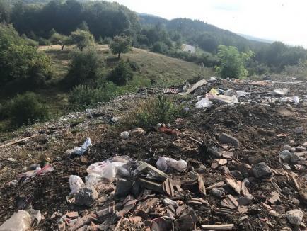 Revoltător! Firma de salubritate a Primăriei Aleşd a abandonat tone de gunoaie în mijlocul naturii, inclusiv într-o arie protejată (FOTO)