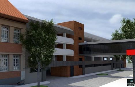 Magazinul Crişul va fi conectat la parcarea supraetajată de pe strada Braşovului printr-o pasarelă